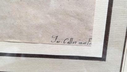 """Gravure en noir d'après CALLOT  """"Entrée de M. de Macey"""""""