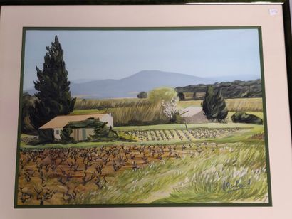 Abel GERBAUD (1888-1954)  «Paysage de Provence»...
