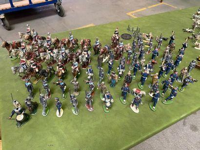 Important lot de soldat, cavaliers, fantassins...