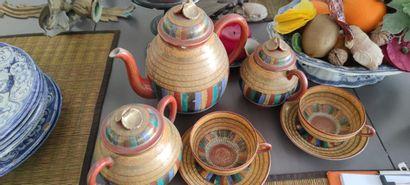 JAPON :  Service à thé comprenant pot à lait,...
