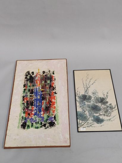 «Abstractions»  Peinture moderne sur fond...