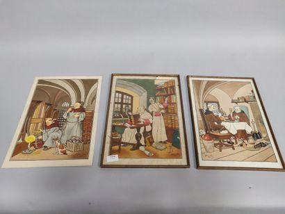 Trois reproductions d'HARRY ELIOTT