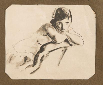 17. André DIGNIMONT (1891-1965)  Femme accoudée...