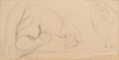 43. Eugène CARRIERE (1849-1906)  Femme allaitant...
