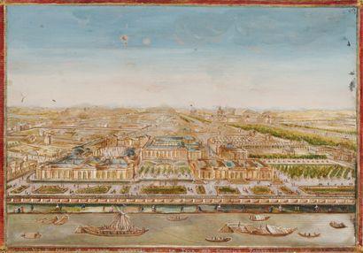 180. COMPIGNIE, Thomas  Vue du palais Bourbon,...