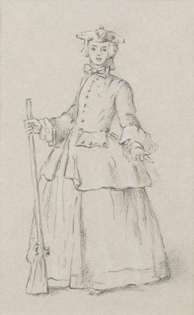 6. École française du XVIIIe siècle  Femme...