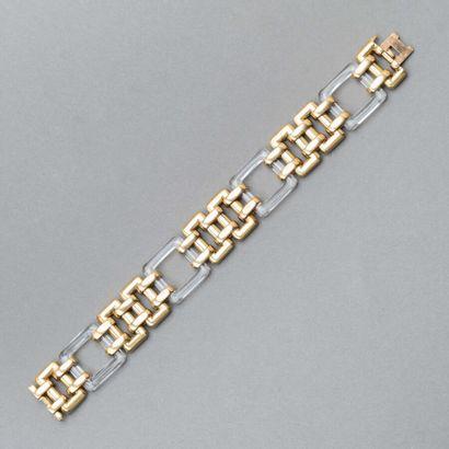 120. Elégant bracelet en or jaune 750/1000e...