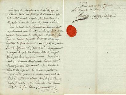 74. Joseph FOUCHÉ (1763-1820) conventionnel,...