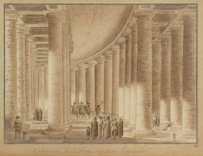 5. École française vers 1800  Montage comprenant quatre vignettes : Eglise sainte...