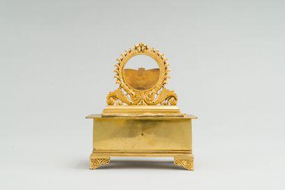 212. Porte-montre de bureau en bronze verni...