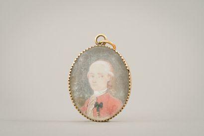 176. Miniature ovale représentant le portrait...