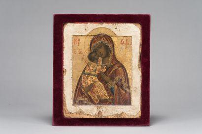18. La Vierge de Vladimir  Icône russe (Russie...