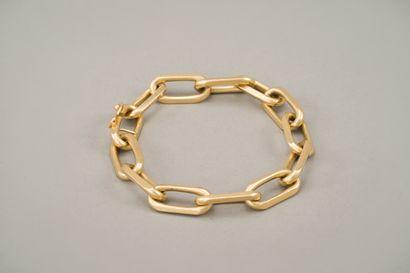 112. Bracelet gourmette en or jaune 750/1000e...