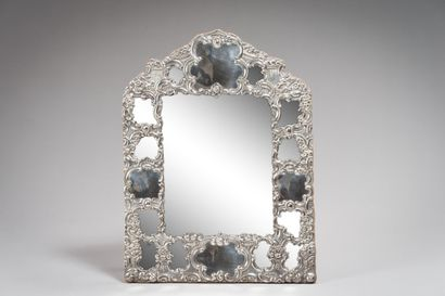 158. Miroir chevalet de coiffeuse à parcloses...