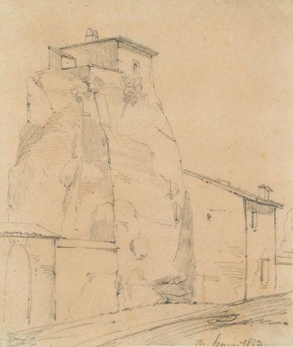 8. Théodore Caruel d'ALIGNY (Chaume 1798 - Lyon 1871)  Deux paysages sur le même...
