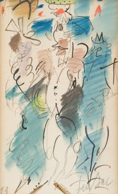 60. GEN PAUL (1895-1975)  Suite de 17 aquarelles...