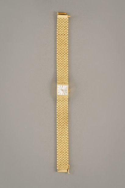 95. Montre en or jaune 750/1000e (18 carats)...