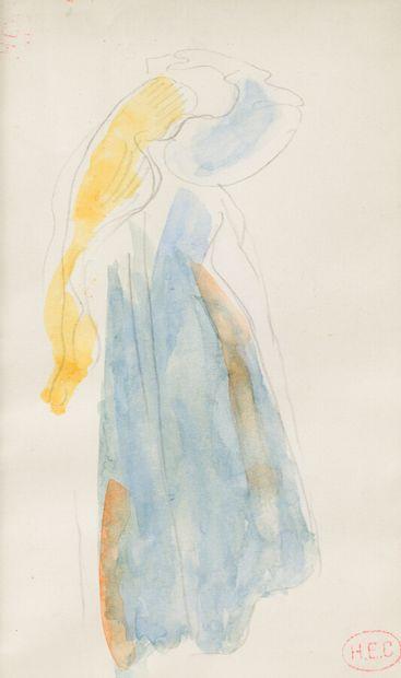 47. Henri-Edmond CROSS (1856 - 1910)  Femme...