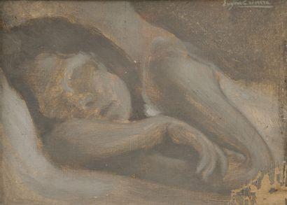 40. Eugène CARRIERE (1849-1906)  Femme endormie...