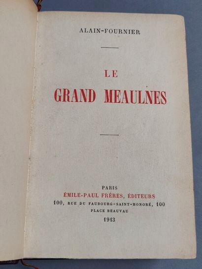 63. Alain FOURNIER  Le Grand Meaulnes. Paris,...