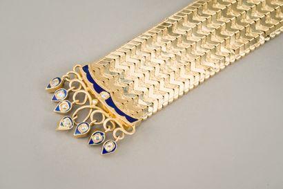 90. Bracelet ceinture en or jaune 750/1000e...