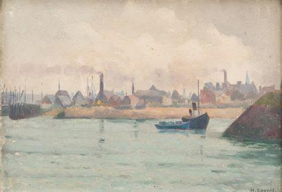 50. Henri Eugène LOUVET (1866-?)  Bord de...