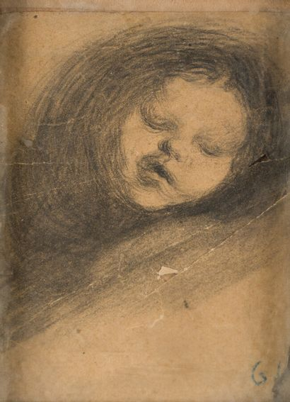 42. Eugène CARRIERE (1849-1906)  Enfant endormi...