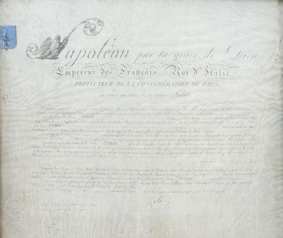 89. Diplôme sur parchemin  Napoléon par la...