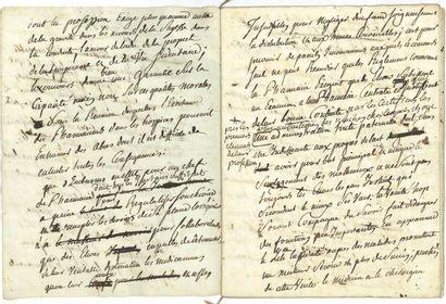83. Antoine PARMENTIER  Manuscrit autographe...