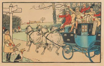 39. Harry ELIOTT (1882-1959)  La barrière...