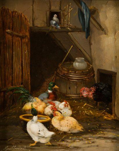 37. Claude GUILLEMINET (1821-c.1866)  Basse-cour...