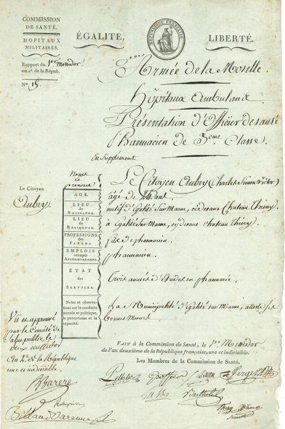 88. Maximilien ROBESPIERRE (1758-1794)  P.S.,...