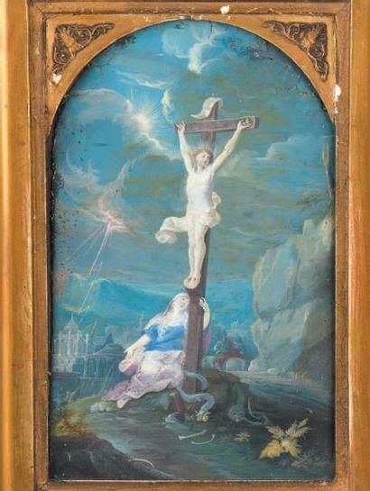 «Crucifixion» Gouache sur papier. Époque...