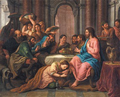 ÉCOLE FRANÇAISE du XVIIIe siècle, suiveur de Louis de BOULOGNE