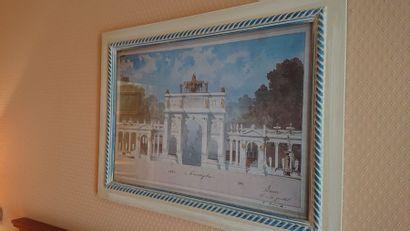 Trois reproductions dont «Les Halles» et...