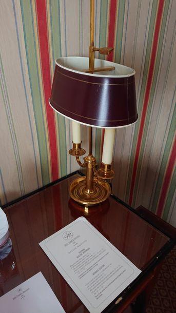 Paire de lampes bouillotte à deux lumières,...