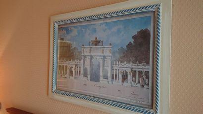 Deux reproductions dont «Arc de triomphe»...