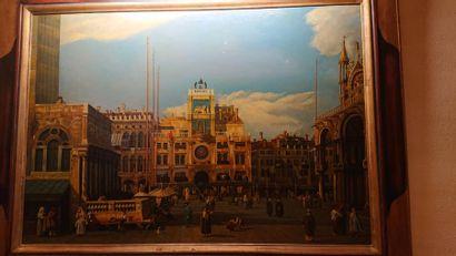 Peinture «Place St Marc», panneau dans...