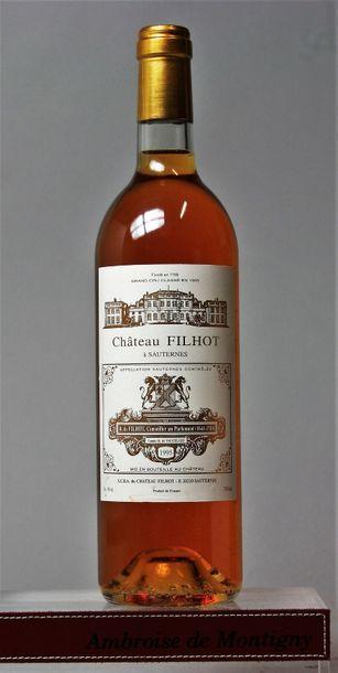 1 bouteille CHÂTEAU FILHOT - 2e CC Sauternes...