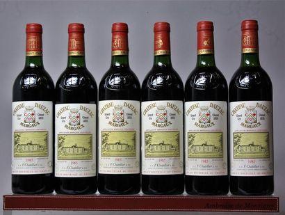 6 bouteilles CHÂTEAU DAUZAC - 3e GCC Margaux...