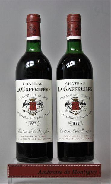 2 bouteilles CHÂTEAU LA GAFFELIÈRE - 1erGCC...