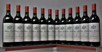 12 bouteilles CHÂTEAU MONTROSE - 2e GCC St...