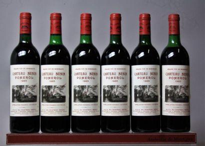 6 bouteilles CHÂTEAU NENIN - Pomerol 1985...