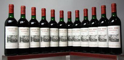 12 bouteilles CHÂTEAU NENIN - Pomerol 1989...