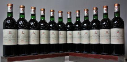 12 bouteilles CHÂTEAU PAPE CLÉMENT - CC Pessac...