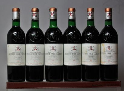 6 bouteilles CHÂTEAU PAPE CLÉMENT - CC Pessac...