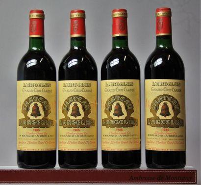 4 bouteilles CHÂTEAU L'ANGELUS - 1er GCC...