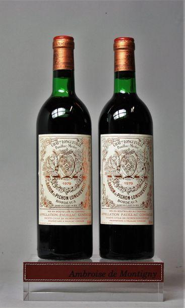 2 bouteilles CHÂTEAU PICHON BARON DE LONGUEVILLE...
