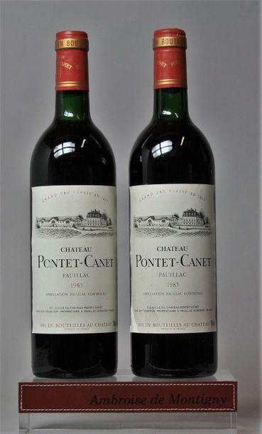 2 bouteilles CHÂTEAU PONTET CANET - 5e GCC...