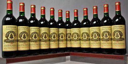 12 bouteilles CHÂTEAU L'ANGELUS - 1er GCC...